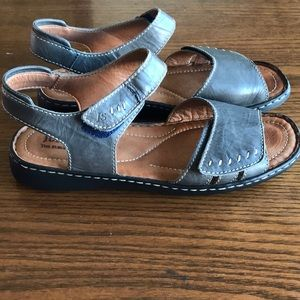 Josef Seibel grey Velcro sandals
